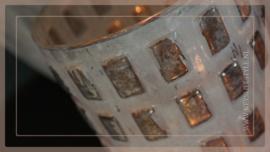 Windlicht Blocks silver | L