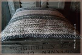 Kussen stripe 45 x 45 cm | roze