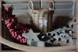 Doosje sterren wood | M