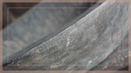Oude houten schaal oor | dark grey