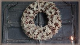Krans Dennenappel reindeer moss   50 cm