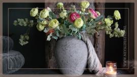 Ranunculus tak | roze/créme 50 cm