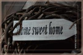 Tekst bordje hout| Home sweet home