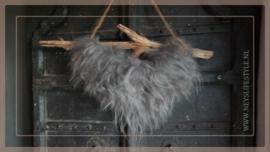Hanger schapenwol aan stok   1