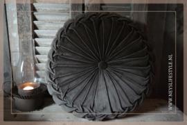 Velvet kussen dark brown | 40 cm