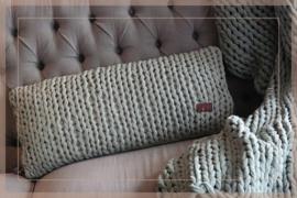Kussen knitted 35 x 75 cm | pistache groen