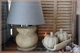 Lamp classic rond aardewerk met/zonder kap