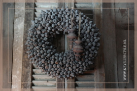 Krans coco fruit | grey | 45 cm