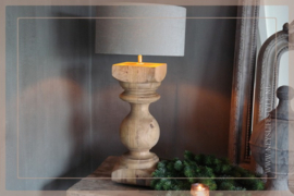 Baluster lamp   hout 47 cm