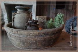 Oude houten ronde trog/bak | 2