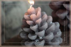 Kaars pine cone | grijs S