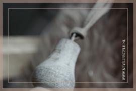 Houten klos Uniq grey | M