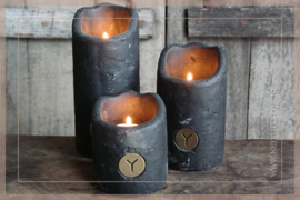 Set candlecup holder vintage | black