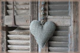 Hart hanger stof | grijs S