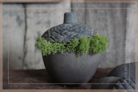 Acorn candle cup | grey