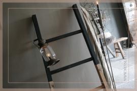 Ladder hout   half black