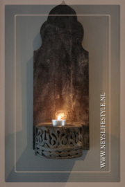 Wandkandelaar ornament | black