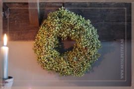 Krans Exotica bes groen | 23cm