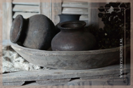 Oude originele tuimelkruikjes| bruin