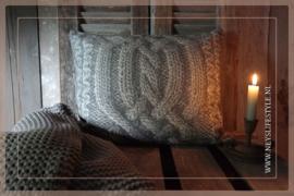 Kussen Knit 35 x 45 cm | grijs