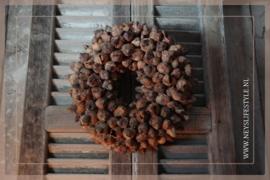 Krans coco fruit | naturel | 30 cm