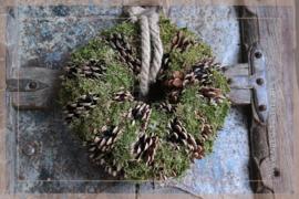 Pine moss krans | 28 cm