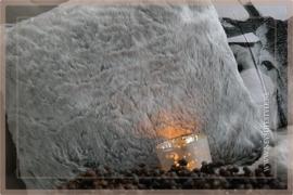 Kussen Bont 45x45 grijs
