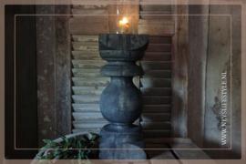 Kandelaar hout baluster | black 40 cm