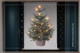 Wanddoek XMAS tree LED | M