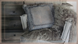 Kussen linnen/kalk sober 45 x 45 cm | roest grey