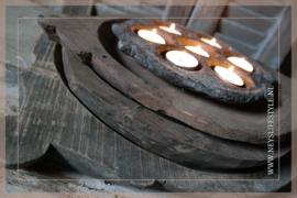 Oude originele houten schaal