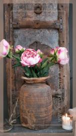 Pioenroos kunst   roze 79 cm