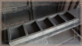 Houten tray met vakken   grijs