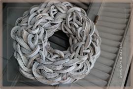 Krans Coco Slice   Whitewash   40cm