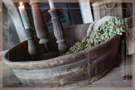 Oude houten olijfbak | 3