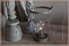 Mandlampje LED Vintage | roest