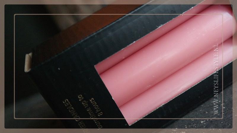 Diner kaarsen laag | roze