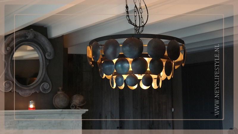 Schijfjeslamp Sober incl fitting  | black L