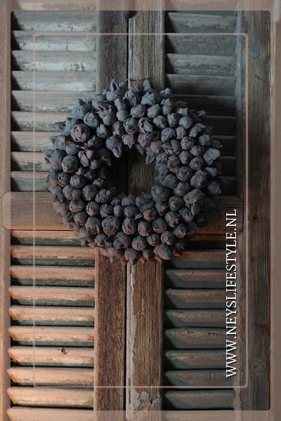 Krans coco fruit | grey | 30 cm