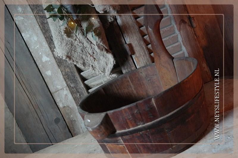 Oude houten sauna bak | 2