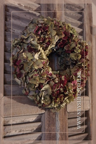 Hortensia krans | dried 30-35 cm