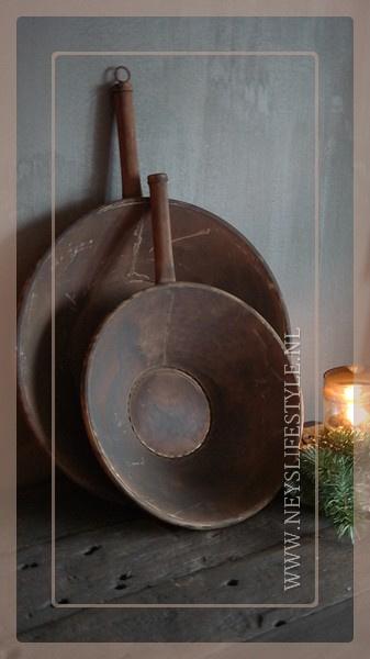 Sinc pan met handvast | roest S