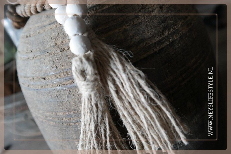 Kralenketting wit | 70 cm