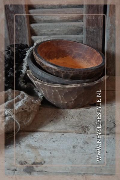 Houten schaaltje | oud