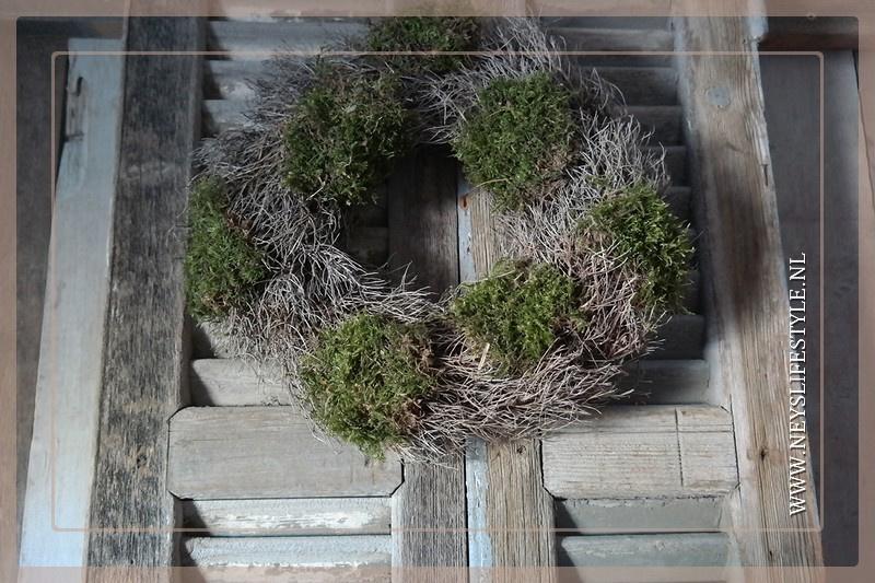 Iron grass moss krans | 40 cm