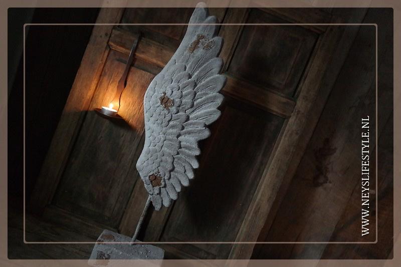 Vleugel op voet | grey