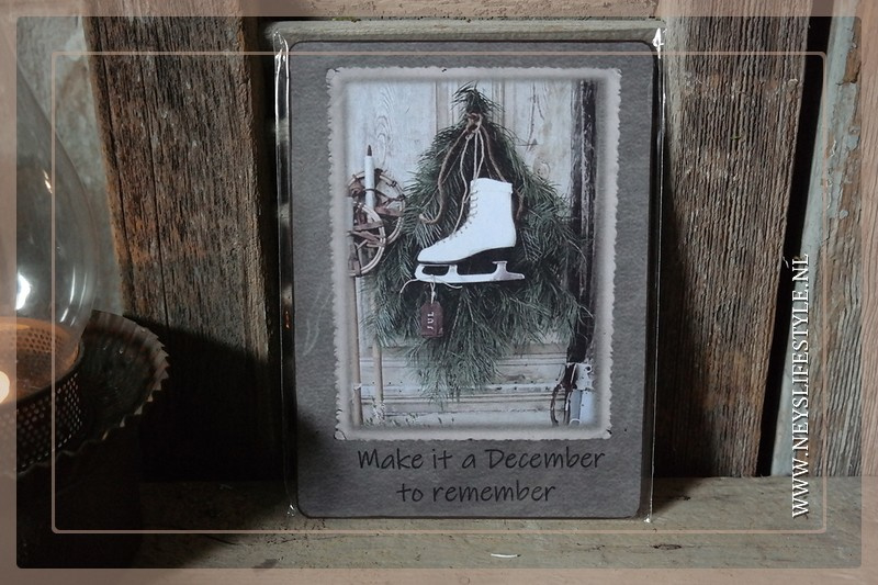 Deco bordje |Make it a December to remember