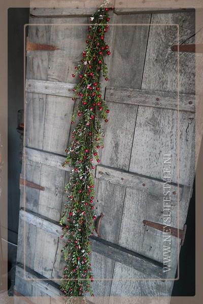 Buxus bessen guirlande  | 150 cm