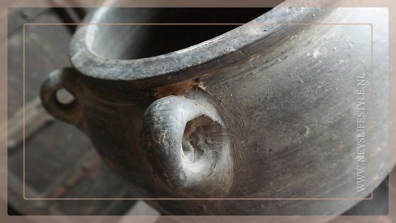 Chinese kruik/pot met oren