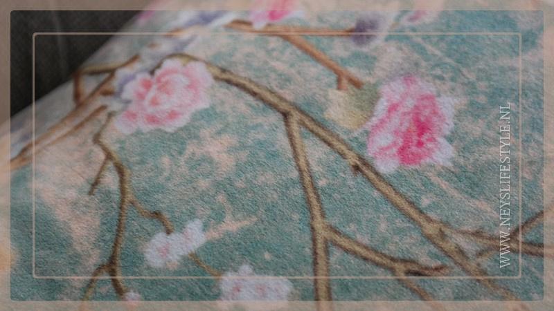 Kussen fluweel 60 x 40 cm   Japanse tuin